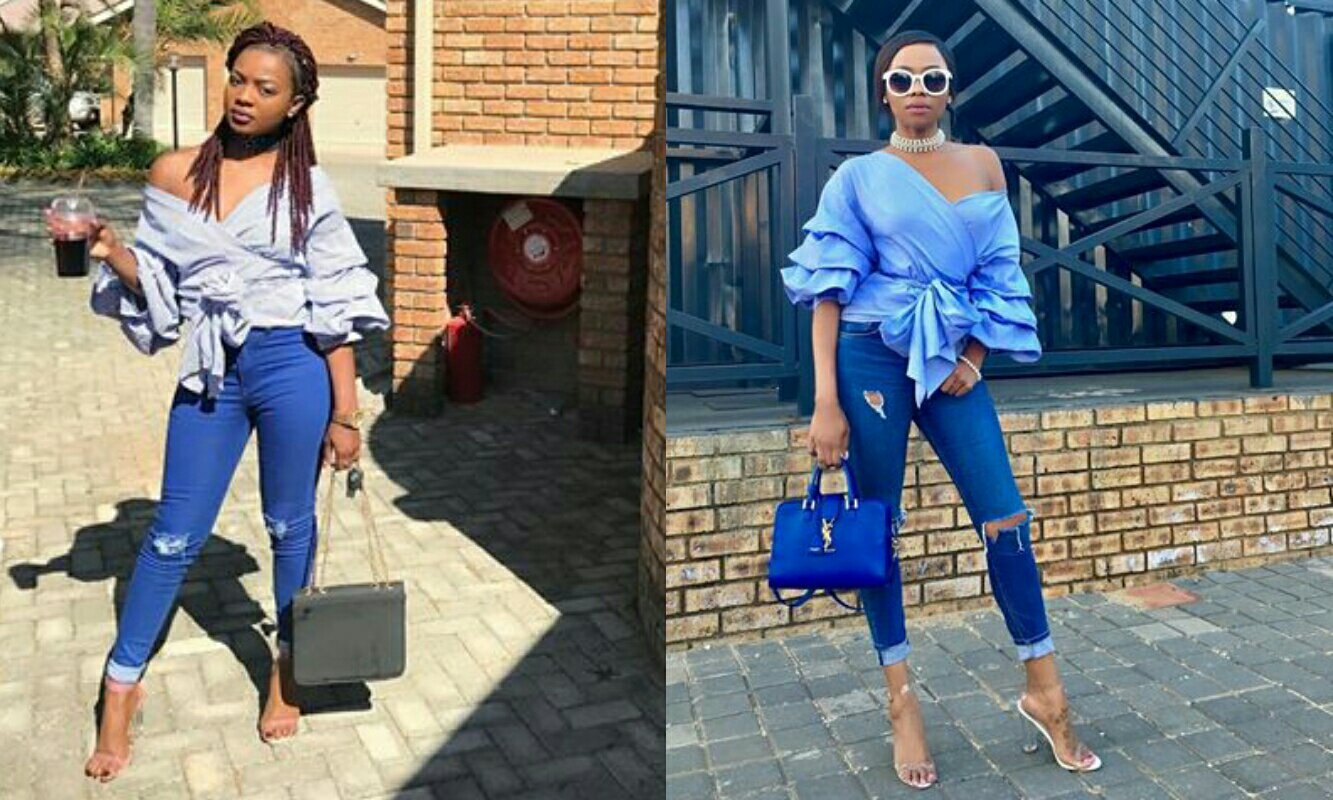 Tiara Takes A Style From Bonang's Wardrobe; Did She Wear It Better?