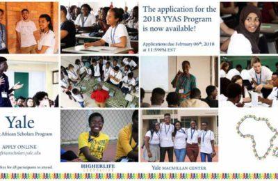 Yale Young African Scholars (YYAS) Program 2018