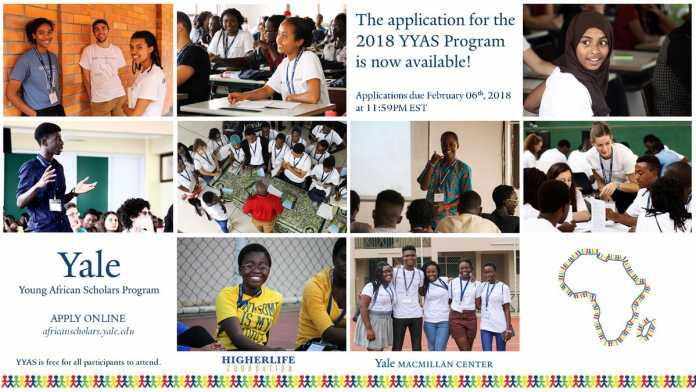 Yale Young African Scholars (YYAS) Program 2018